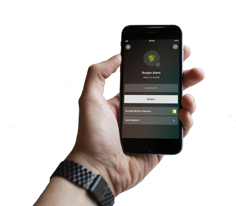 Loxonee Smart Home App - freigestelltalarm