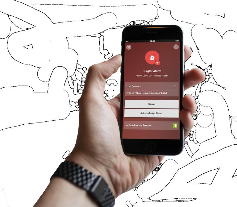 Loxonee Smart Home App - freigestelltalarm2