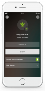 Loxone Smart Home App - Burglar Alarm - Armed