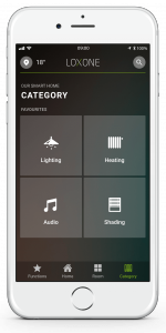 Loxone Smart Home App - Category Tab - Favourite Tiles