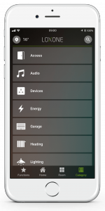 Loxone Smart Home App - Category Tab - List