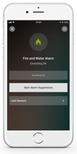 Loxone Smart Home App - Fire and Water Alarm