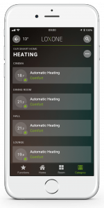 Loxone Smart Home App - Heating