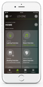 Loxone Smart Home App - Home Tab